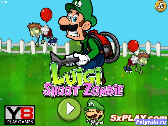 Игра Марио против зомби