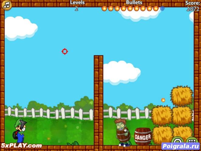 Картинка к игре Марио против зомби