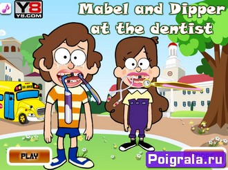 Мейбл и Диппер лечат зубы картинка 1