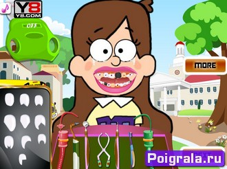 Картинка к игре Мейбл и Диппер лечат зубы