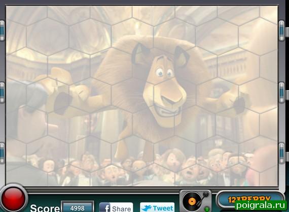 Картинка к игре Пазл Алекс из Мадагаскара