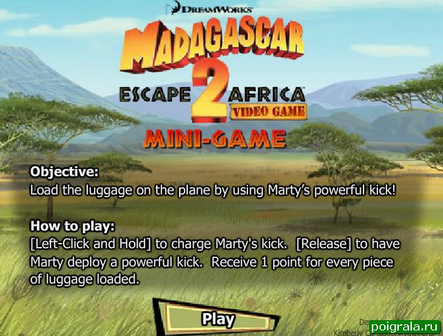 Игра Мадагаскар, побег из Африки