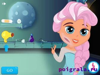 Картинка к игре Малышка Эльза, ледяная травма