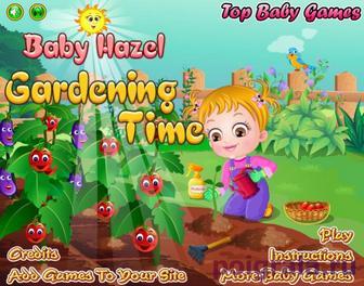 Игра Малышка Хейзел в саду выращивает фрукты