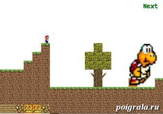 Картинка к игре Марио в майнкрафте