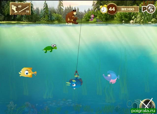 Картинка к игре Маша и медведь рыбалка