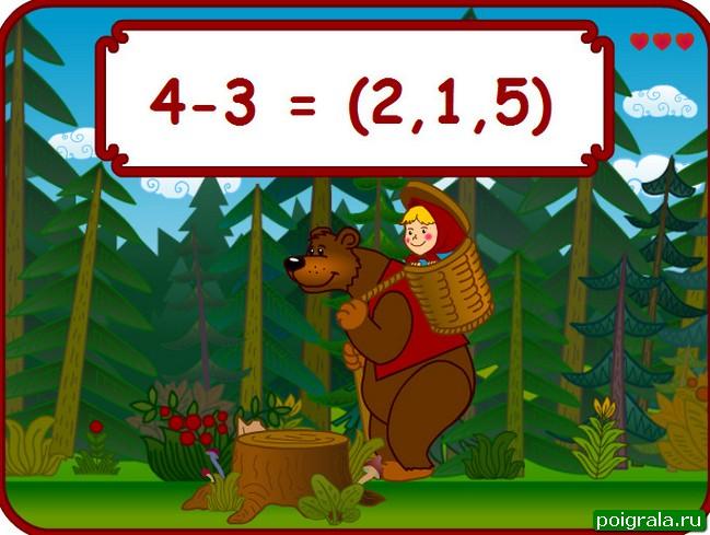Картинка к игре Маша и медведь математика