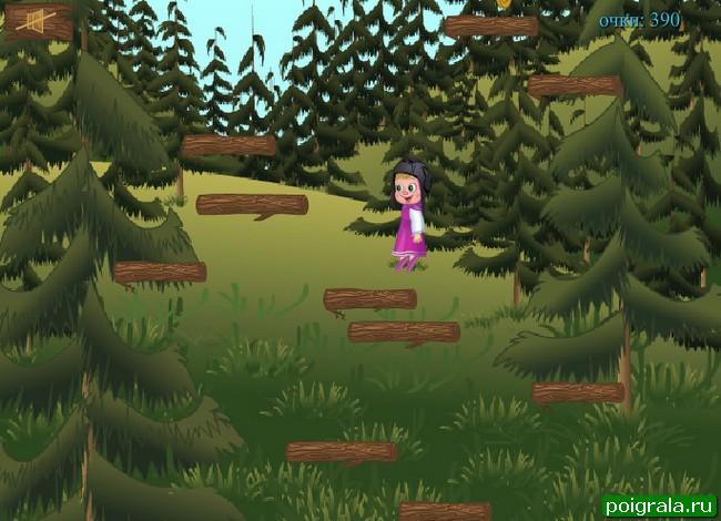 Картинка к игре Маша прыгает по ступенькам