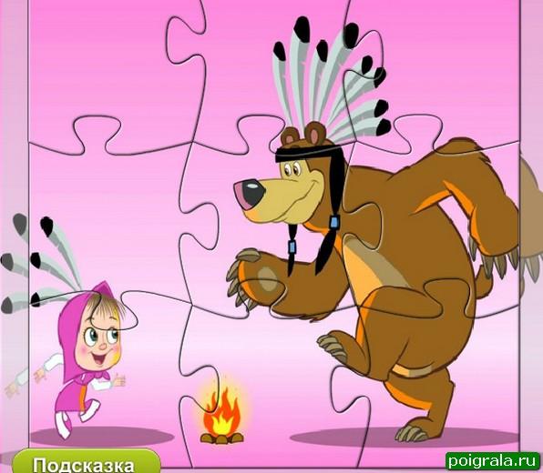 Картинка к игре Маша и медведь, пазлы