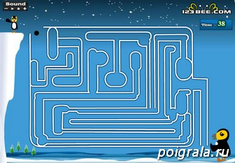 Картинка к игре Лабиринт пингвин