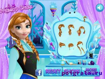 Картинка к игре Холодное сердце, макияж для Анны