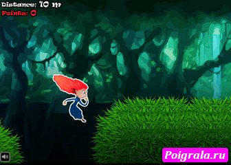 Картинка к игре Храбрая сердцем бежит по лесу