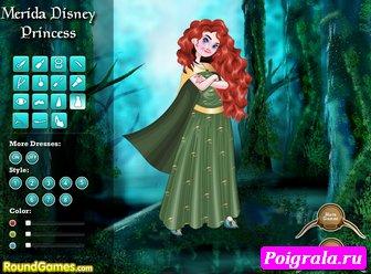 Картинка к игре Мерида принцесса Диснея