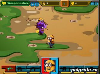 Картинка к игре Миньон против зомби