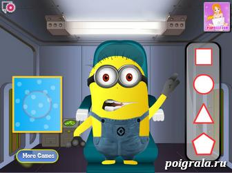 Картинка к игре Миньон у офтальмолога