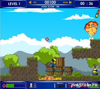 Картинка к игре Миньон против ракет
