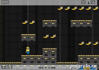 Картинка к игре Миньон собирает бананы