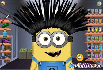 Картинка к игре Миньон в парикмахерской