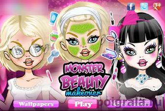 Игра Монстры хай красивый макияж