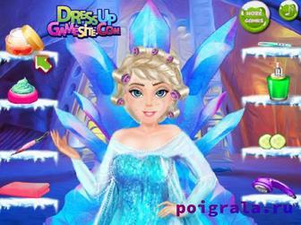 Картинка к игре Морозный макияж Эльзы