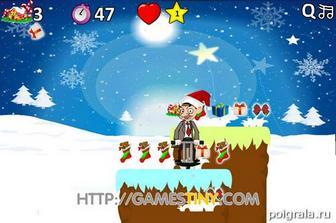 Картинка к игре Мистер Бин прыгает за подарками