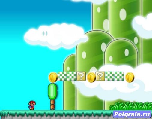 Картинка к игре Новое приключение Марио