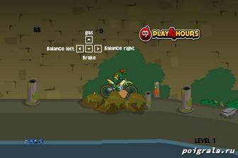 Картинка к игре Черепашка ниндзя на мотоцикле