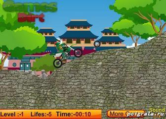 Картинка к игре Черепашки ниндзя гонки на мотоцикле