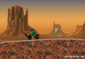 Картинка к игре Черепашки ниндзя гонки по пустыне