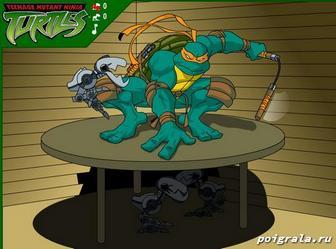 Картинка к игре Черепашки ниндзя против роботов