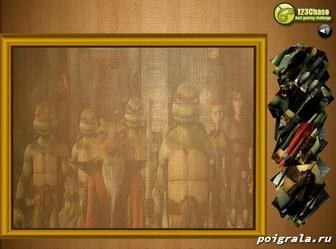 Картинка к игре Пазл черепашки ниндзя