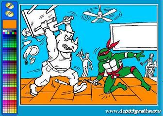 Картинка к игре Раскраска черепашки ниндзя