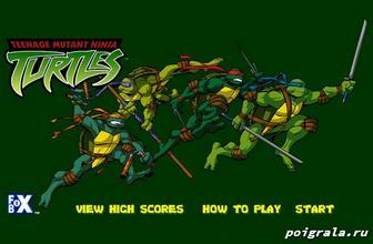 Игра Звездочки черепашек ниндзя