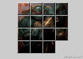 Картинка к игре Черепашки ниндзя: пятнашки