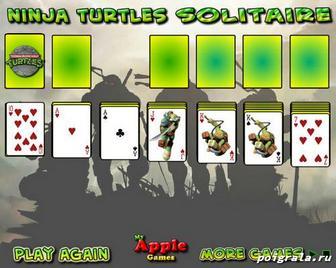 Игра Черепашки ниндзя игра в карты