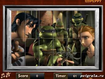 Картинка к игре Головоломка с черепашками ниндзя