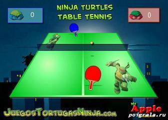 Игра Настольный теннис с черепашками