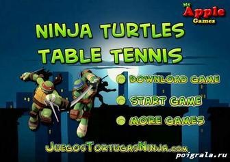 Картинка к игре Настольный теннис с черепашками