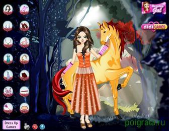 Картинка к игре Ночная фея и единорог