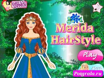 Прическа принцессы Мериды картинка 1