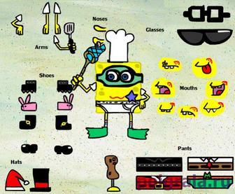Картинка к игре Губка Боб одевалка