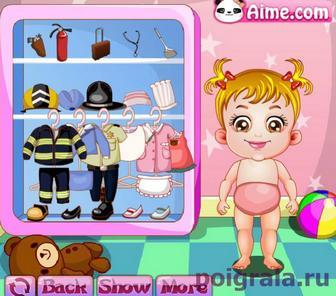 Картинка к игре Одеваем малышку Хейзел на работу