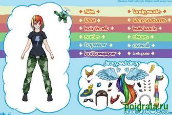 Картинка к игре Подбор одежды для Радуги Деш