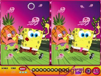 Картинка к игре Губка Боб найди отличия