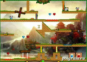 Картинка к игре Огонь и вода, панды