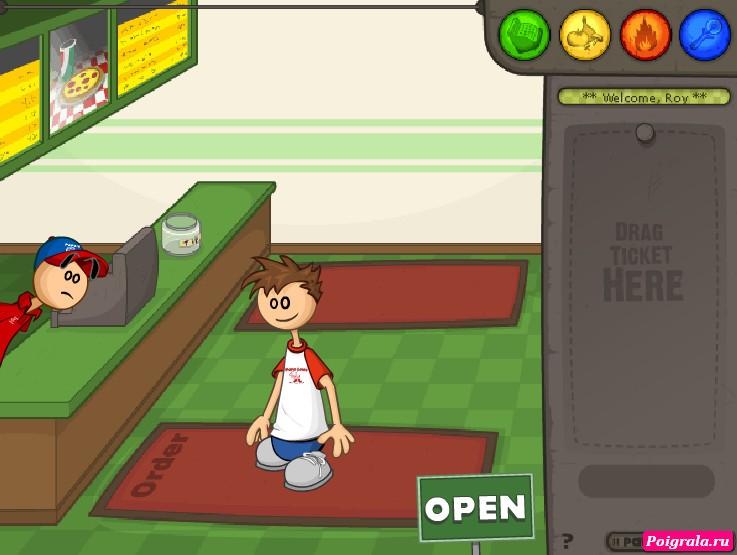Картинка к игре Пиццерия папы Луи