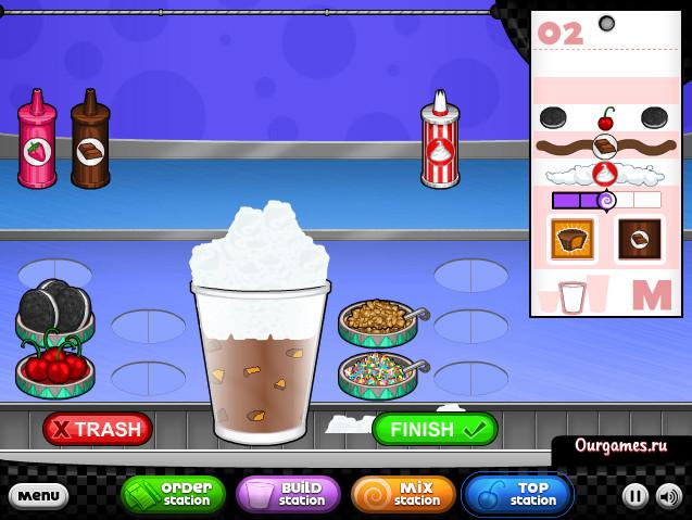 Картинка к игре Кафе мороженое папы Луи