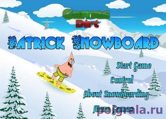 Патрик сноубордист картинка 1
