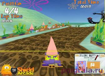 Картинка к игре Патрик на гонках