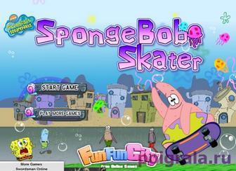 Игра Патрик скейтбордист